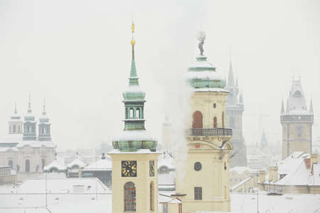 Winter in the city, Prague photo