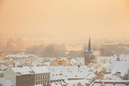 Prague in winter, Czech Republic Stock Photo - 17379145
