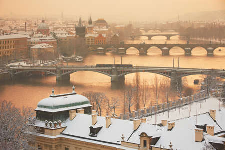 Prague in winter, Czech Republic photo