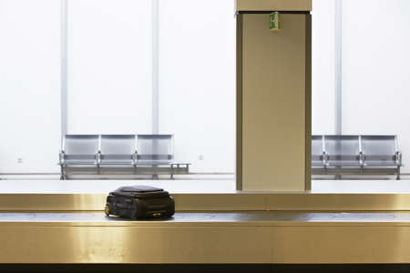 conveyor belts: Baggage claim at the airport  Editorial