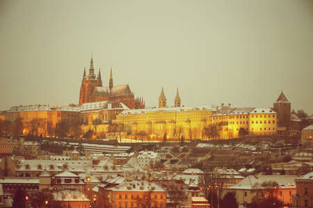 Prague Castle in winter Stock Photo - 17779942