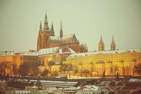 czech culture: Prague Castle in winter