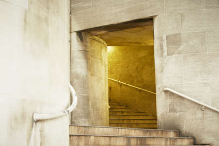 underpass: Stone staircase to underpass