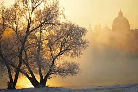 Frosty morning in Prague Stock Photo - 18948427
