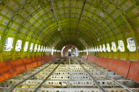 aerospace industry: Airplane under heavy maintenance   Stock Photo