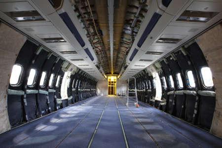 Airplane under heavy maintenance   photo