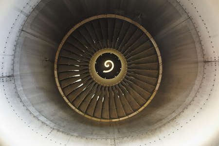 intake: Front view on jet engine