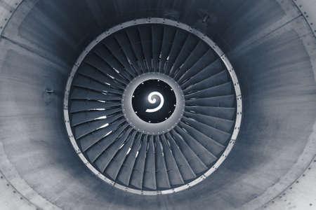 jet engine: Front view on jet engine