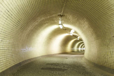 back lighting: Mysterious tunnel for walkers, Prague