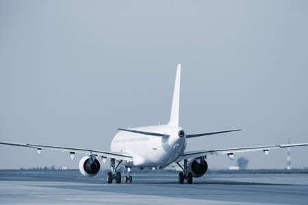 aircraft take off: Airplane at the runway, Prague