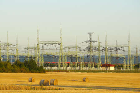 High voltage transformer in the middle field photo