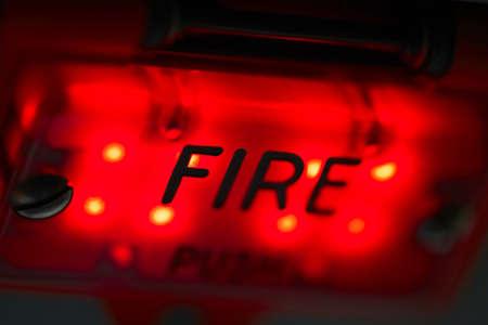 voiture de pompiers: Fire - pr�s vue sur le panneau de commande dans l'avion