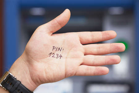 entry numbers: Bad idea - simple PIN code written on the palm