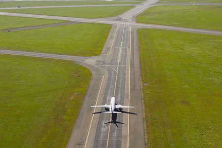Flughafen - Flugzeug vor dem Start Lizenzfreie Bilder
