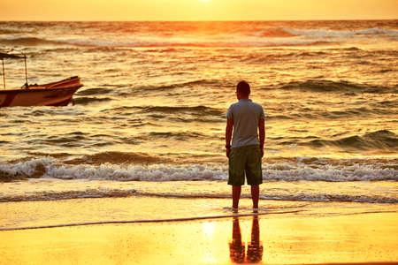 Young man on the beach - Sri Lanka  photo