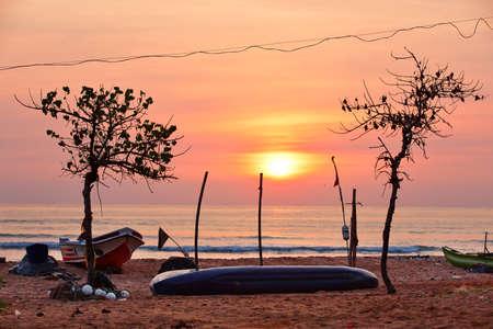 New day - Tropical colorful sunrise in Sri Lanka photo