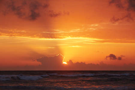 Sunset over the Indian Ocean - Sri lanka photo