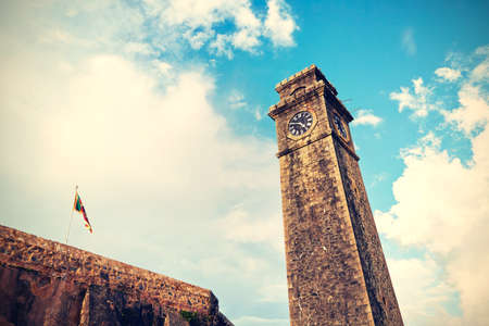 galle: Clock tower in Galle Fort - Sri Lanka