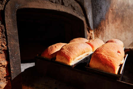 Traditional preparation of bread in the bakery. Stock Photo - 24206754