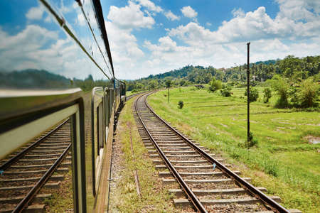 Train from Colombo to the mountains in the middle of Sri Lanka. photo