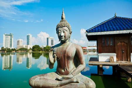 Die Seema Malaka Tempel - Gangaramaya in Colombo Lizenzfreie Bilder