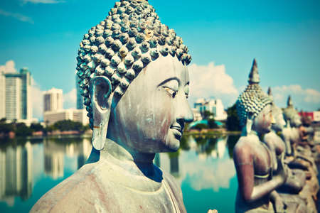 buddhist structures: The Seema Malaka Temple - Gangaramaya in Colombo  Stock Photo