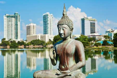The Seema Malaka Temple - Gangaramaya in Colombo  Stock Photo