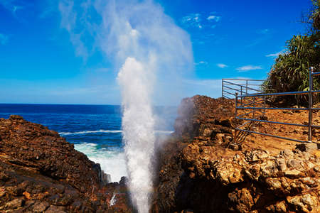 blow hole: Blow hole - Natural fountain in Hummanaya, Sri Lanka