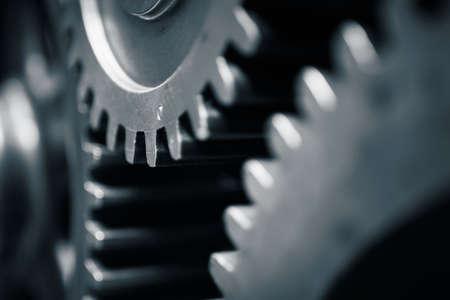 大型歯車モーター - 青いトーン
