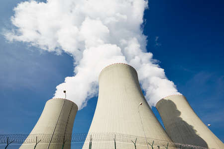 cooling towers: Cooling towers of the nuclear power plant