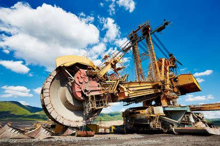 Huge mining machine in the coal mine photo