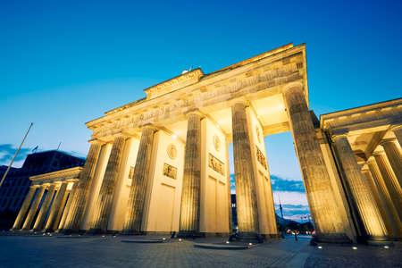 brandenburg gate: Brandenburg Gate - morning in Berlin, Germany Stock Photo