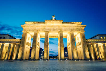 brandenburg gate: Brandenburg Gate - morning in Berlin, Germany Stock Photo