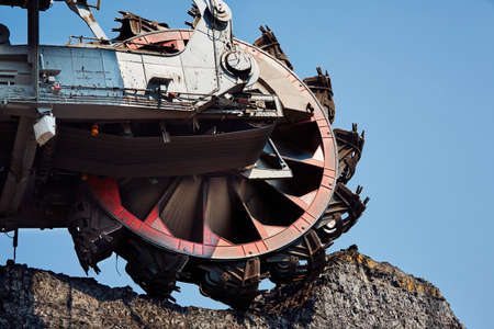 mining: Huge mining machine in the coal mine