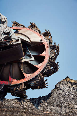 mining equipment: Huge mining machine in the coal mine