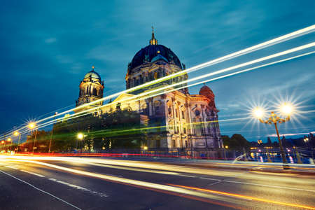 of movement: Museum Island with Berlin Cathedral - Berlin, Germany Editorial