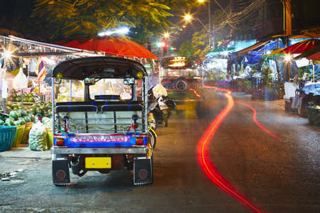 tuk tuk: Tuk tuk taxi at the night - Bangkok, Thailand