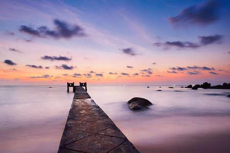Pier at the beautiful sunset - Vietnam