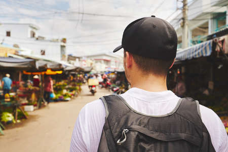 back pack: Young traveler with back pack - Phu Quoc, Vietnam