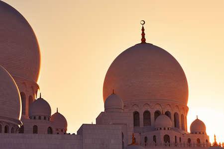 united arab emirate: Mosque in Abu Dhabi, the capital city of the United Arab Emirate Stock Photo