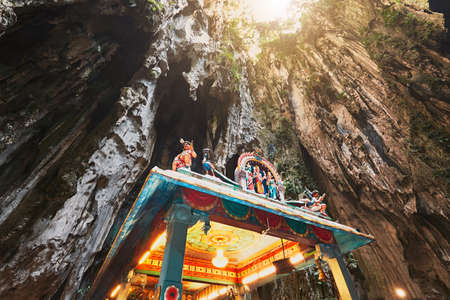 Hindu temple in the middle of the Batu Caves. Kuala Lumpur, Malaysia Stock Photo