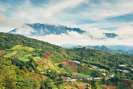 マレーシアのキナバル山の風景。 写真素材