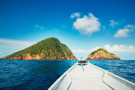 Adventure on the sea. Motorboat on the journey to Perhentian islands, Malaysia