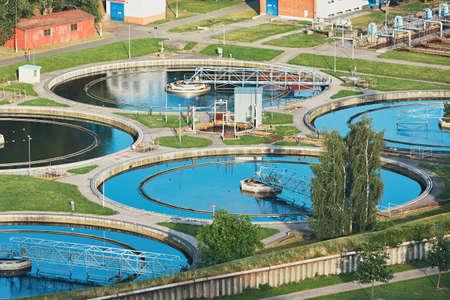 大下水のリサイクル水。 写真素材
