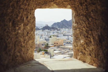 Cityscape view of Muscat city from fort. The capital of Oman.