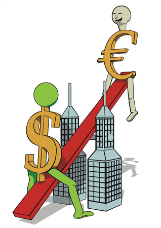depiction: Its a symbolic depiction of euros increase. Illustration
