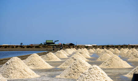 The salt stack in the original salt farm is produced from natural seawater for the final process before being shipped to the consumer.