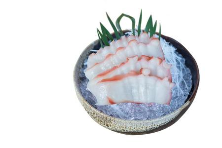 Japanese Food Sashimi isolated on white background,clipping path