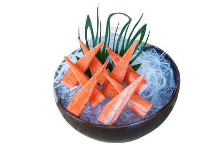 Japanese Food Sashimi isolated on white