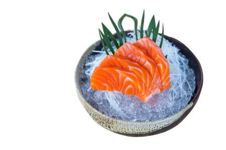 Japanese Food Sashimi isolated on white